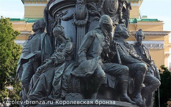 Бронзовый памятник Екатерине Второй