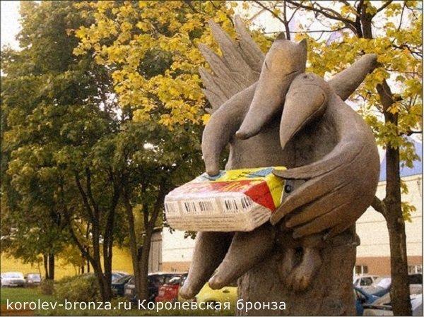 Памятник сырку Дружба в Москве